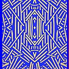 Tribal Blue & Gold - Iphone Case by sullat04