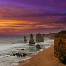 The Apostles at Sunset by kcy011