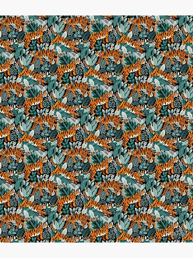 Bangel Tiger Teal Jungle  by TigaTiga