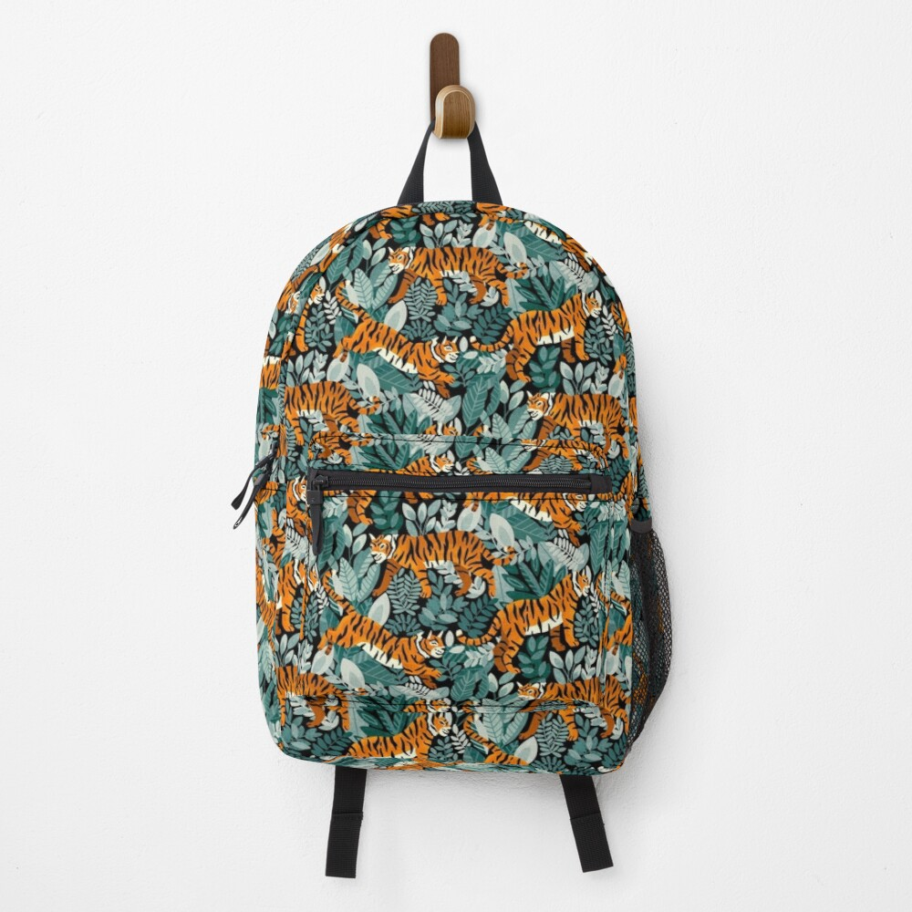 Bangel Tiger Teal Jungle  Backpack