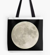 Vollmond am Nachthimmel Tote Bag