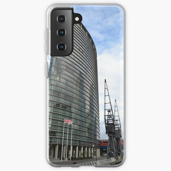 tower of glass at canary wharf Samsung Galaxy Soft Case