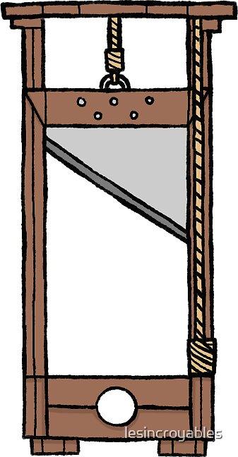 """""""french revolution sticker set- guillotine (plain version ..."""