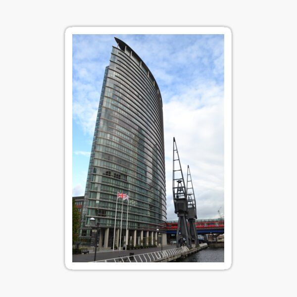tower of glass at canary wharf Sticker