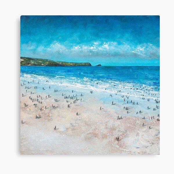 Fistral Beach, Newquay Cornwall Art Canvas Print