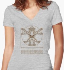 Vitruvian Murloc Women's Fitted V-Neck T-Shirt