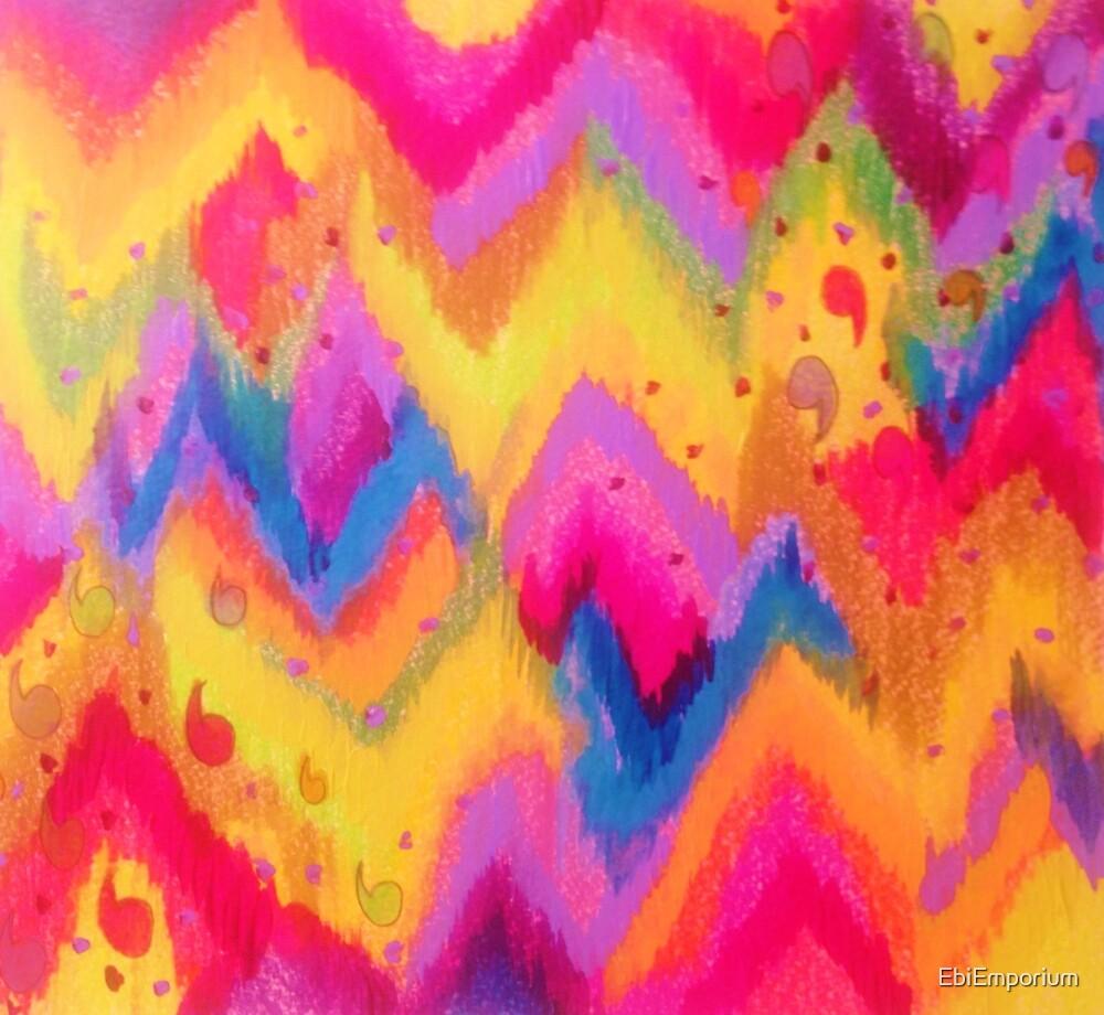 """""""BOLD QUOTATION - Bright Vibrant Neon Quote Chevron"""