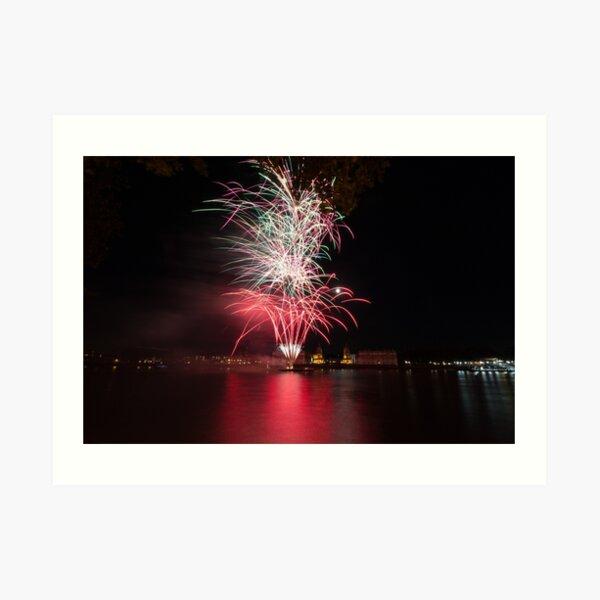 Fireworks over Greenwich Art Print