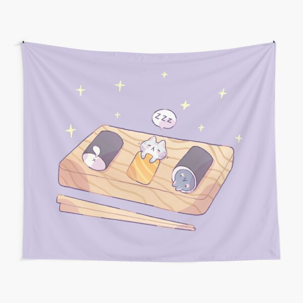 Cats like Sushi Tapestry