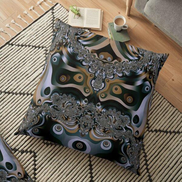 Mystic Fractals Floor Pillow