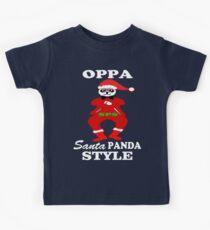 ★ټOppa Santa-Panda Style Hilarious Clothing & Stickersټ★ Kids Tee
