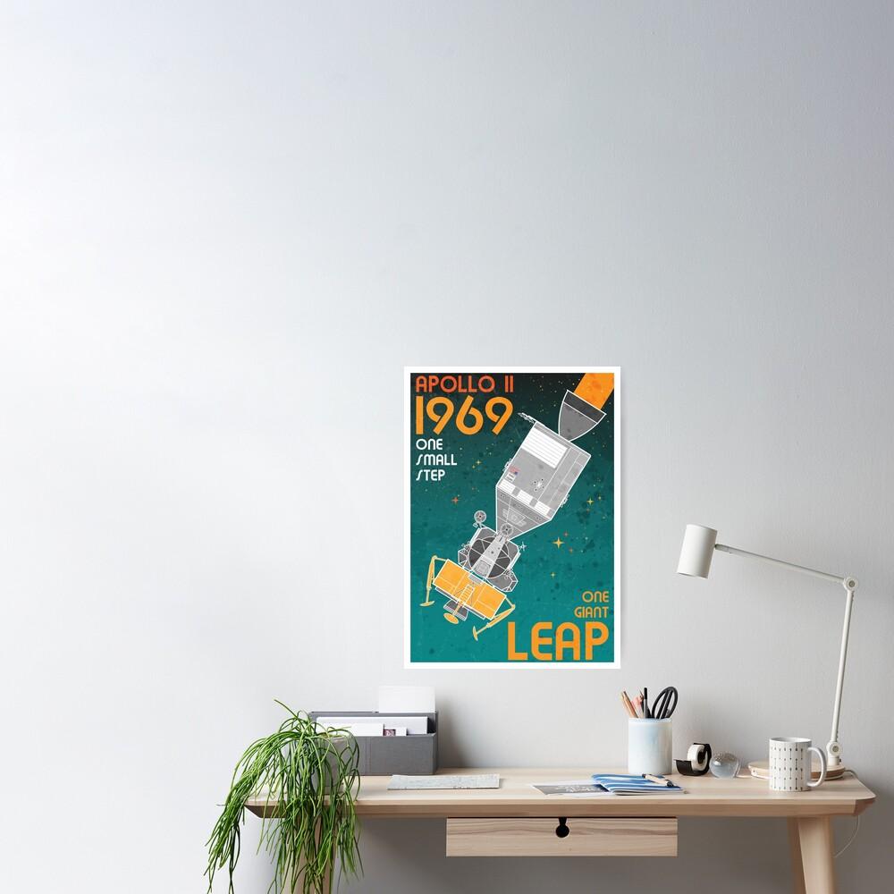 Apollo 11-One Giant Leap Retro Poster