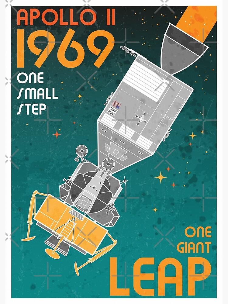 Apollo 11-One Giant Leap Retro by BGALAXY
