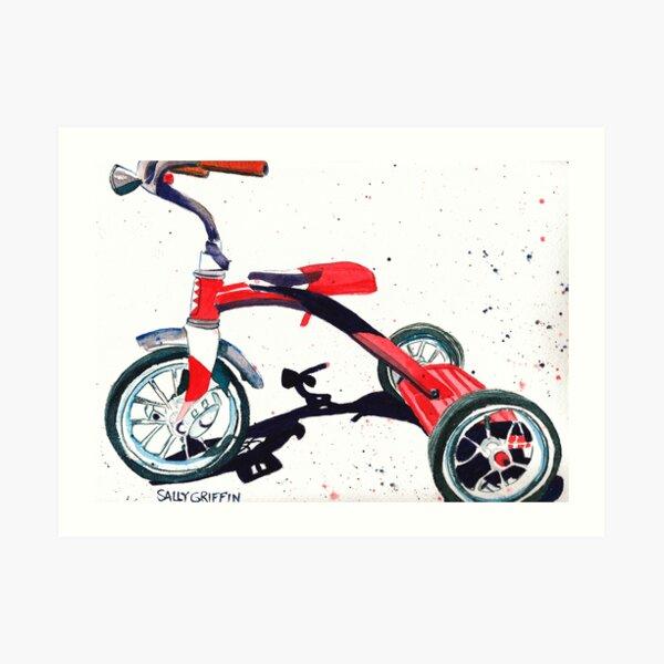 Radio Flyer Tricycle Art Print