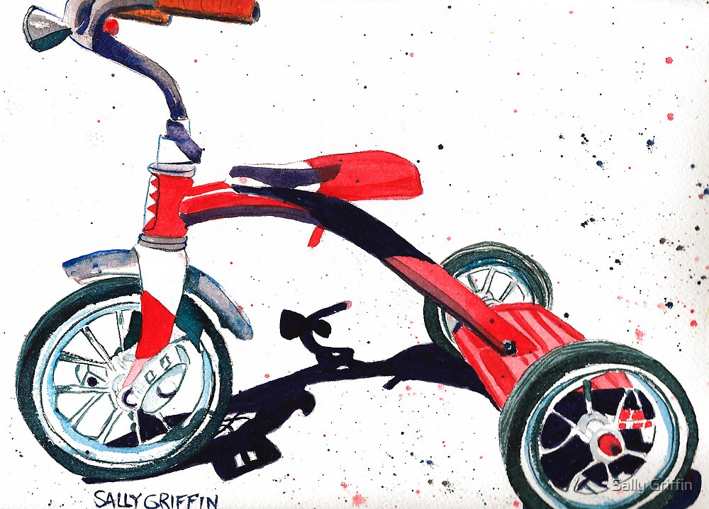 Radio Flyer Tricycle by Sally Griffin