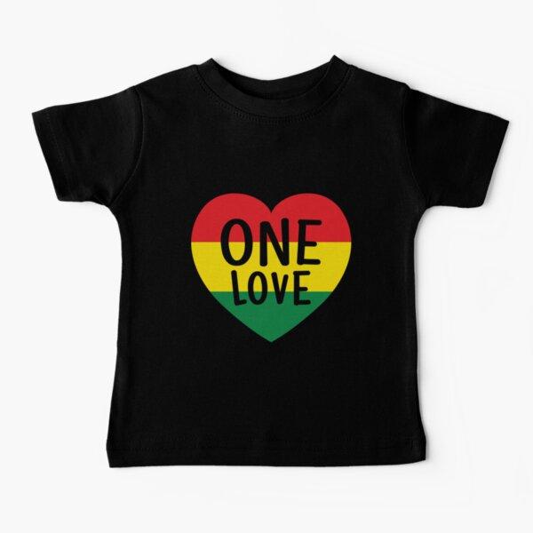 Rasta Reggae Music One Love Heart Rastafarian Baby T-Shirt