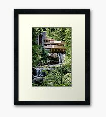 Falling Water, Kaufman House, Frank Lloyd Wright Framed Print