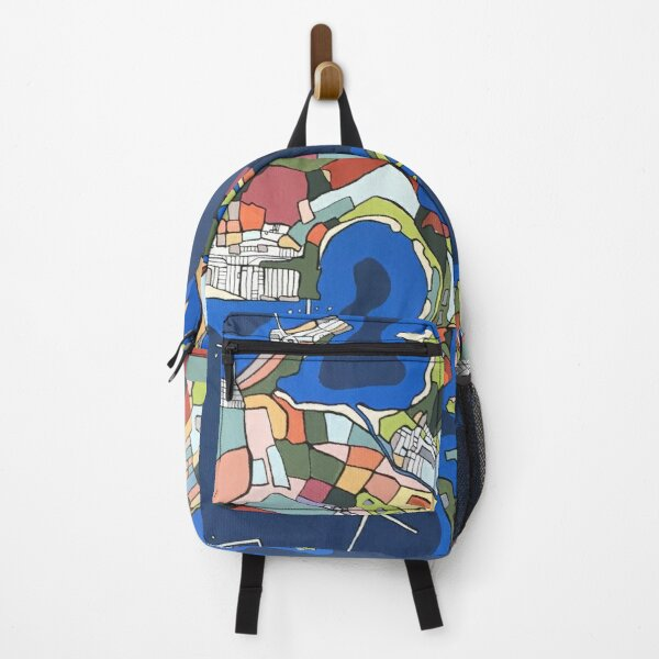 A port in Italy - arial view Backpack