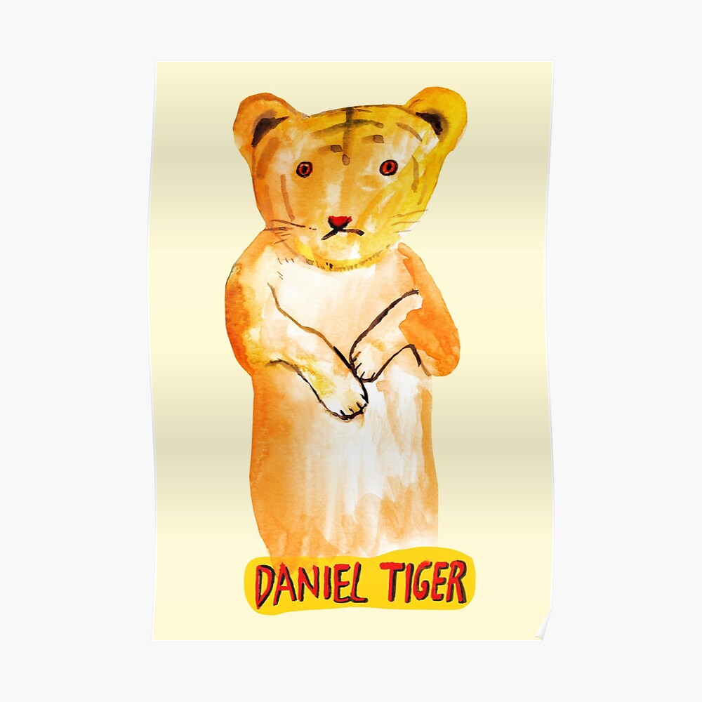 Mr Rogers Neighborhood Daniel Tiger Poster By 7878anti Redbubble