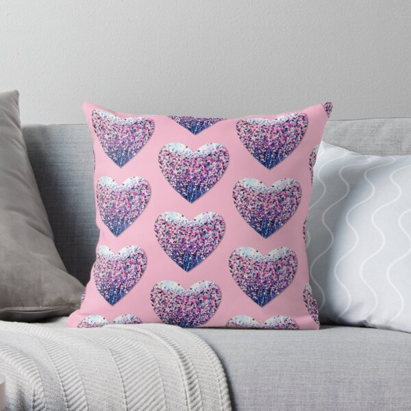 Confetti Heart  Throw Pillow
