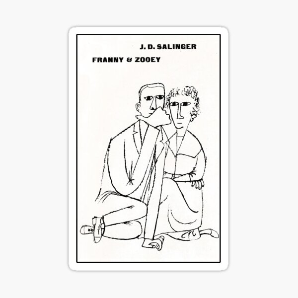 Franny And Zooey vintage book cover Sticker