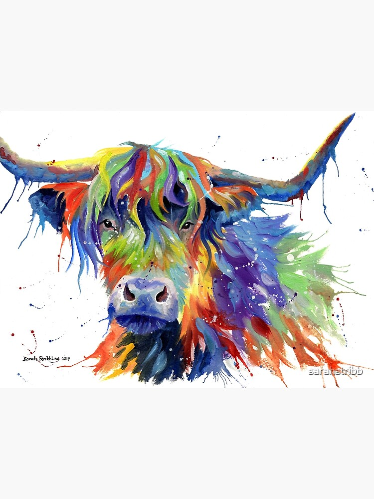 Multicolour Highland Cow by sarahstribb