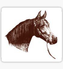 Red Frontier Arabian Horse Drawing 1985 Sticker