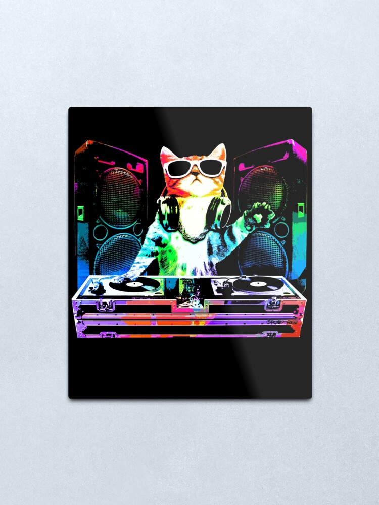 Alternate view of HOUSE CAT (New DJ Kitty) Metal Print