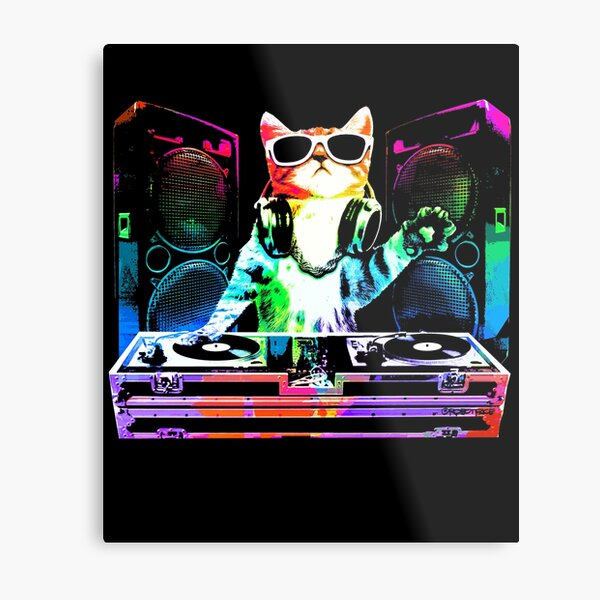 HOUSE CAT (New DJ Kitty) Metal Print
