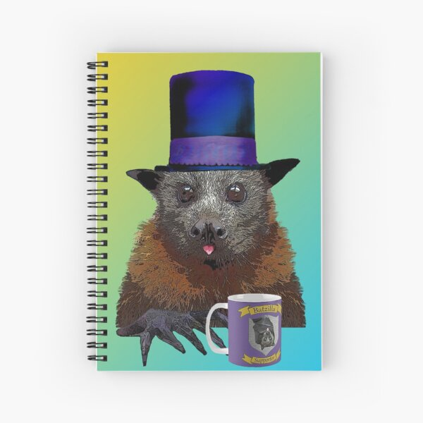 Batzilla - Uncle Barnaby Comes to Tea Spiral Notebook