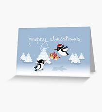 Xmas Card - Birds, Trees & Christmas Gift Greeting Card
