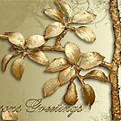 Gold Seasons Greetings by BronReid