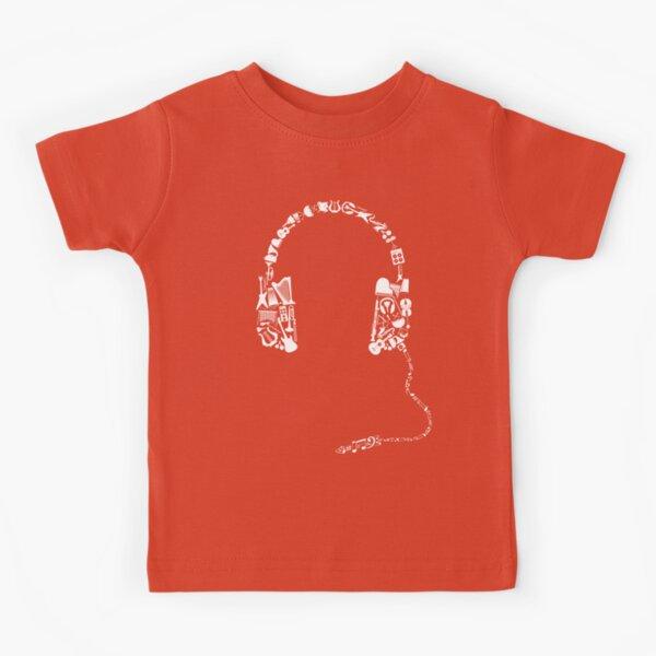 Headphones Collage Kids T-Shirt