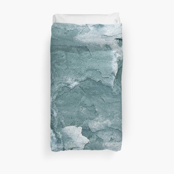 Rocks of River Beach Duvet Cover