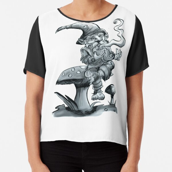 Mushroom Gnome Chiffon Top