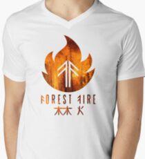 Forest Fire - Flames Men's V-Neck T-Shirt