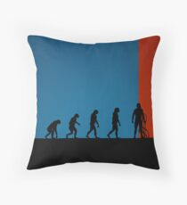 99 Steps of Progress - Virtual reality Throw Pillow