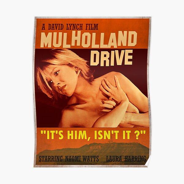 Affiche rétro de Mulholland Drive Poster