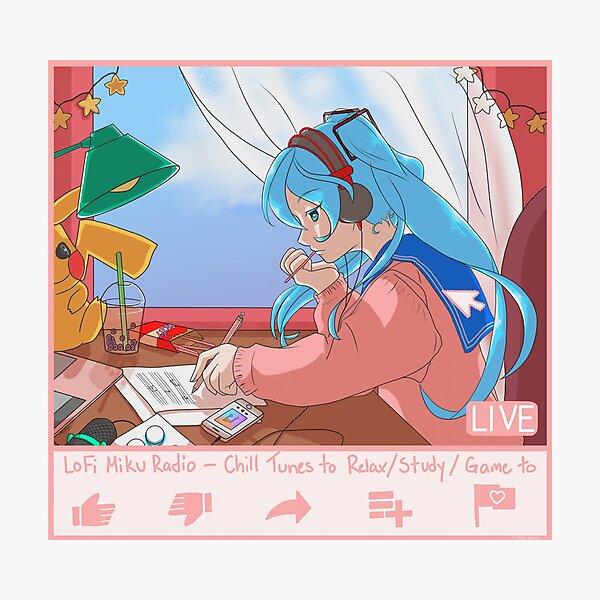 LoFi Miku Radio - Chill Tunes to Chill to (I haven't slept yet Ed.) Photographic Print