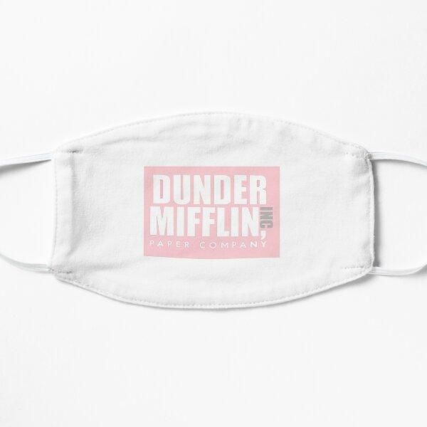 Logotipo rosa de Dunder Mifflin Mascarilla plana
