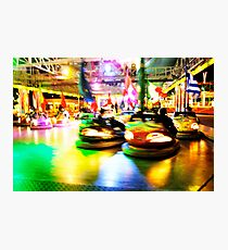 Bumper Cars at Night Photographic Print