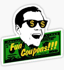 Coupons amusants! le loup de Wall Street Sticker