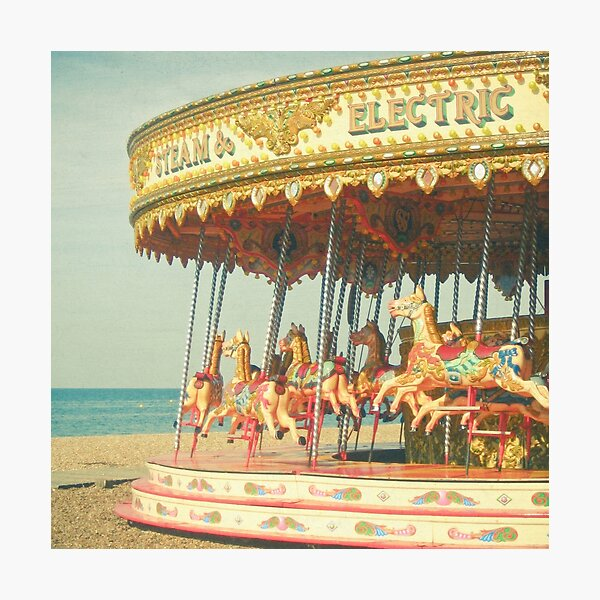 Seaside Carousel Photographic Print