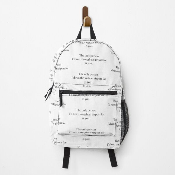 The only person... Backpack