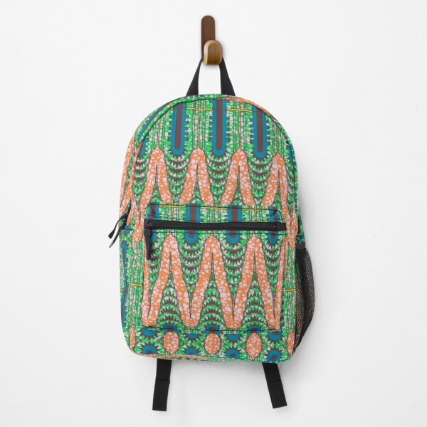 CHRYSLER BUILDING - Orange & Green Backpack