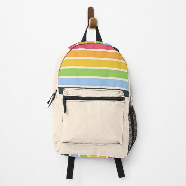 Tarama - Classic 70s Style Retro Stripes Backpack