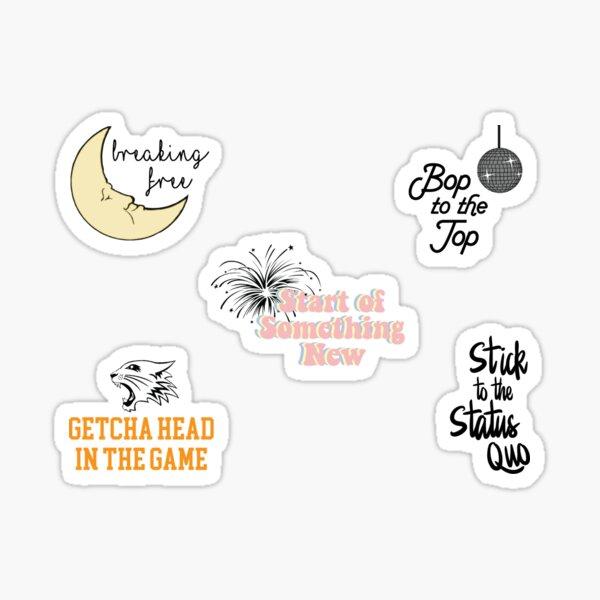Pack d'autocollants musical High School Sticker