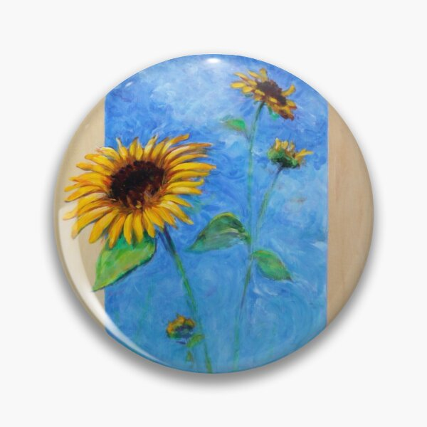 Yay Sunflowers! (square) Pin