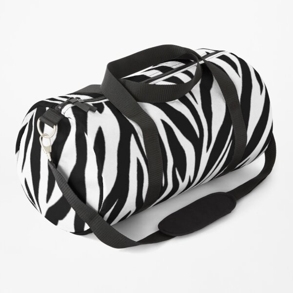 Zebra Pattern Duffle Bag