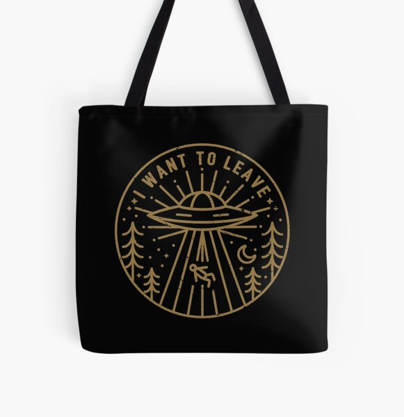 I Want To Leave - Pocket All Over Print Tote Bag